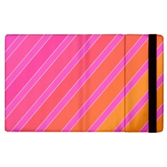 Pink elegant lines Apple iPad 3/4 Flip Case