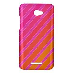 Pink elegant lines HTC Butterfly X920E Hardshell Case