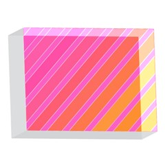 Pink elegant lines 5 x 7  Acrylic Photo Blocks