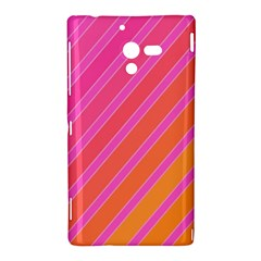 Pink elegant lines Sony Xperia ZL (L35H)