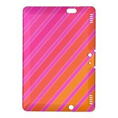 Pink elegant lines Kindle Fire HDX 8.9  Hardshell Case