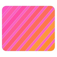 Pink elegant lines Double Sided Flano Blanket (Small)