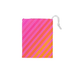 Pink elegant lines Drawstring Pouches (XS)