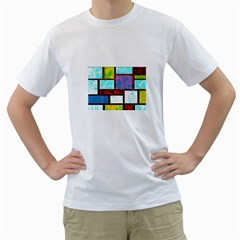 Pizap Com14616116678808 Men s T-Shirt (White) (Two Sided)