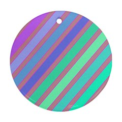 Pastel colorful lines Ornament (Round)
