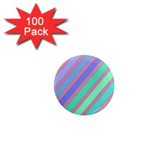 Pastel colorful lines 1  Mini Magnets (100 pack)