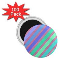 Pastel colorful lines 1.75  Magnets (100 pack)