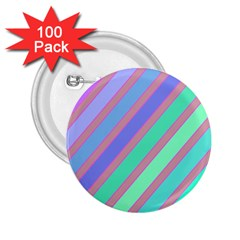 Pastel colorful lines 2.25  Buttons (100 pack)