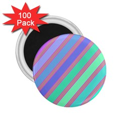Pastel colorful lines 2.25  Magnets (100 pack)