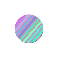 Pastel colorful lines Golf Ball Marker