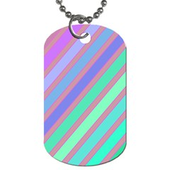 Pastel colorful lines Dog Tag (Two Sides)