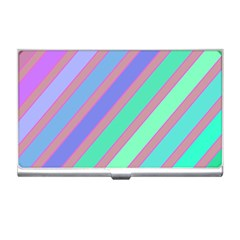 Pastel colorful lines Business Card Holders