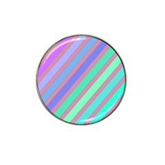 Pastel colorful lines Hat Clip Ball Marker (4 pack)