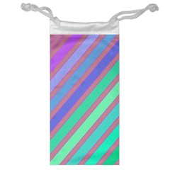 Pastel colorful lines Jewelry Bags