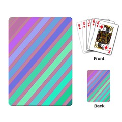 Pastel colorful lines Playing Card
