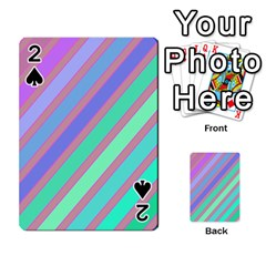 Pastel colorful lines Playing Cards 54 Designs
