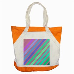 Pastel colorful lines Accent Tote Bag