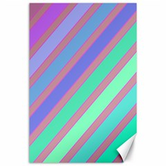 Pastel colorful lines Canvas 24  x 36