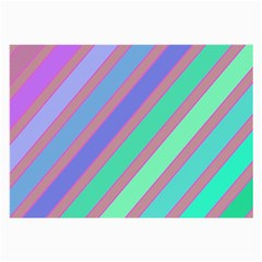 Pastel colorful lines Large Glasses Cloth