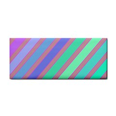 Pastel colorful lines Hand Towel