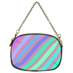 Pastel Colorful Lines Chain Purses (one Side)