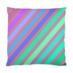 Pastel colorful lines Standard Cushion Case (Two Sides)