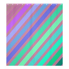 Pastel colorful lines Shower Curtain 66  x 72  (Large)