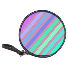 Pastel colorful lines Classic 20-CD Wallets