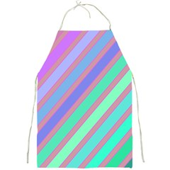 Pastel colorful lines Full Print Aprons