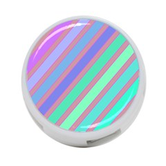 Pastel colorful lines 4-Port USB Hub (Two Sides)
