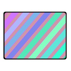 Pastel colorful lines Fleece Blanket (Small)
