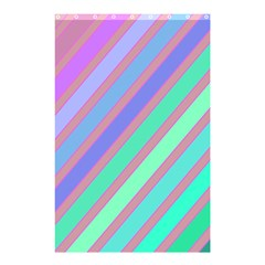 Pastel colorful lines Shower Curtain 48  x 72  (Small)