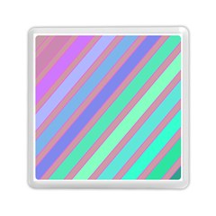 Pastel colorful lines Memory Card Reader (Square)
