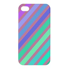 Pastel colorful lines Apple iPhone 4/4S Hardshell Case