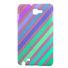 Pastel colorful lines Samsung Galaxy Note 1 Hardshell Case