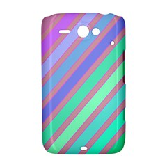 Pastel colorful lines HTC ChaCha / HTC Status Hardshell Case