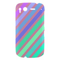 Pastel colorful lines HTC Desire S Hardshell Case