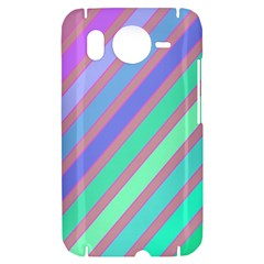 Pastel colorful lines HTC Desire HD Hardshell Case