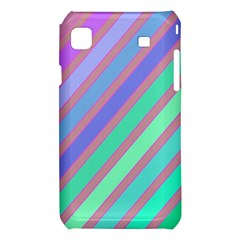 Pastel colorful lines Samsung Galaxy S i9008 Hardshell Case