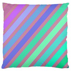 Pastel colorful lines Large Cushion Case (One Side)