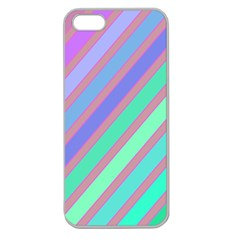 Pastel colorful lines Apple Seamless iPhone 5 Case (Clear)