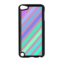 Pastel colorful lines Apple iPod Touch 5 Case (Black)