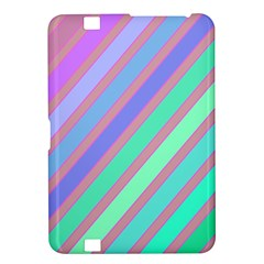 Pastel colorful lines Kindle Fire HD 8.9