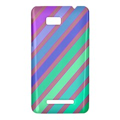 Pastel colorful lines HTC One SU T528W Hardshell Case