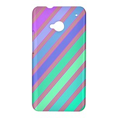 Pastel colorful lines HTC One M7 Hardshell Case
