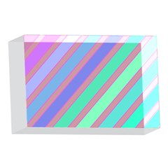 Pastel colorful lines 4 x 6  Acrylic Photo Blocks