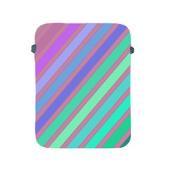 Pastel colorful lines Apple iPad 2/3/4 Protective Soft Cases
