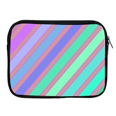 Pastel colorful lines Apple iPad 2/3/4 Zipper Cases