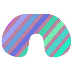 Pastel colorful lines Travel Neck Pillows