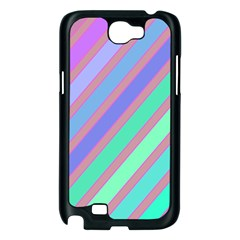 Pastel colorful lines Samsung Galaxy Note 2 Case (Black)